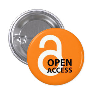 Open Access Badge 1 Inch Round Button