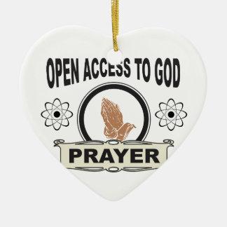 open access prayer ceramic ornament