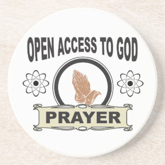 open access prayer coaster