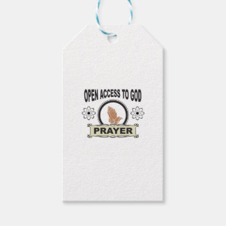 open access prayer gift tags