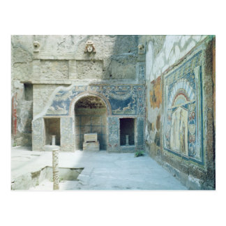 Open air triclinium of the House of Neptune Postcard