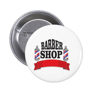 open barber shop art 2 inch round button