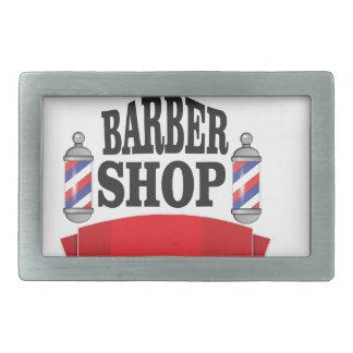 open barber shop art belt buckles