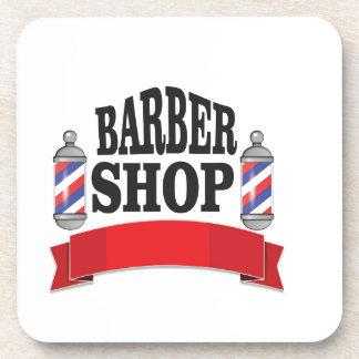 open barber shop art coasters