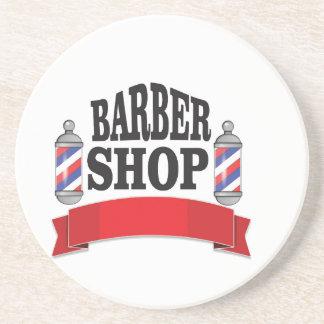 open barber shop art drink coasters