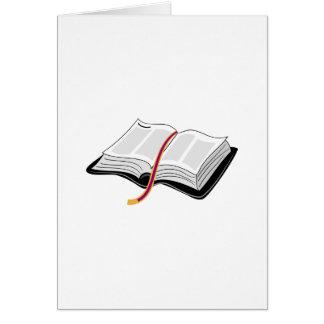 Open Bible Card