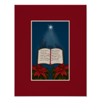 Open Bible Christmas Message Poster