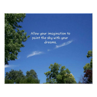 Open Blue Sky 'Painting Dreams' Inspirational Poster