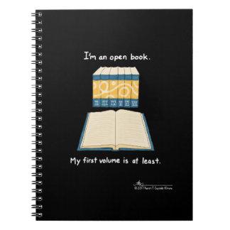 Open Book Black Notebook