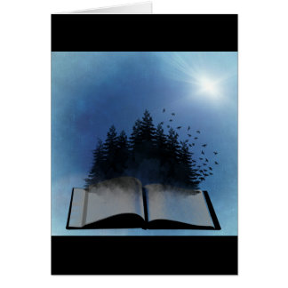 Open Book Forest Card