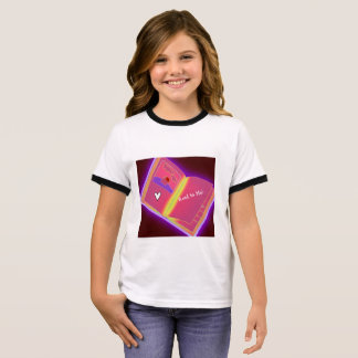 Open Book Girl's T-Shirt Read to Me Colorful Pink