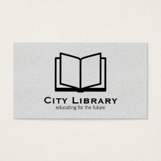 Open Book (gray texture) Business Card
