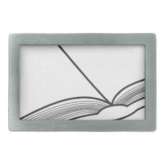 Open Book Rectangular Belt Buckle