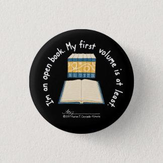 Open Book Small Black Button