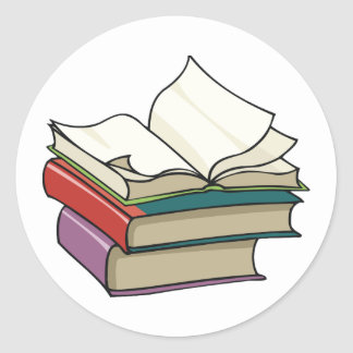 Open Book Stickers