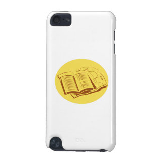 Open Book Trail Map Oval Woodcut iPod Touch 5G Case