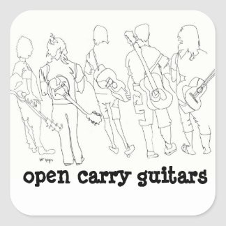 open carry guitars square sticker