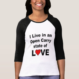 Open Carry State of Love Anti Gun T-Shirt