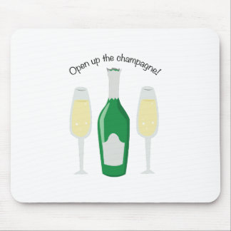 Open Champagne Mouse Pads