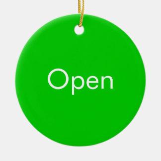 Open / Closed Door Sign Ceramic Ornament