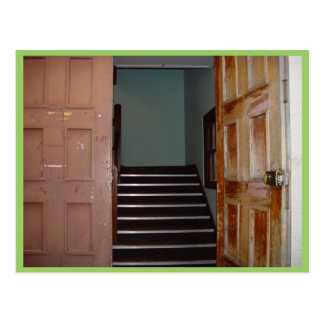 Open Door And Stairwell To Cameron Hall In Univers Postcard