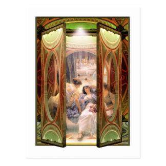 Open Door to The Baths Postcard