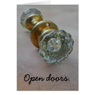 Open doors. card