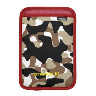 Open-field snow camouflage iPad mini sleeve