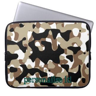 Open-field snow camouflage laptop sleeve