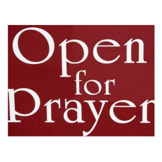 Open For Prayer Sign Postcard