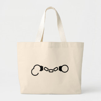Open Handcuffs Large Tote Bag
