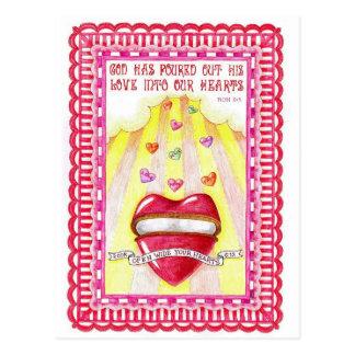 Open Heart Inspirational Postcard
