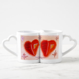 ...open hearts...art by Jutta Gabriel... Coffee Mug Set
