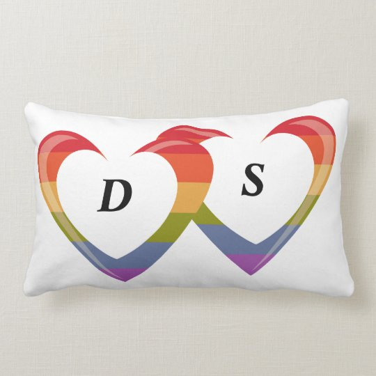 Open Hearts - Monogram Lumbar Pillow