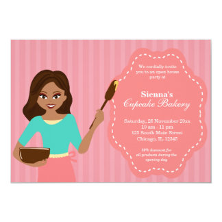 """Open House Bakery business 5"""" X 7"""" Invitation Card"""