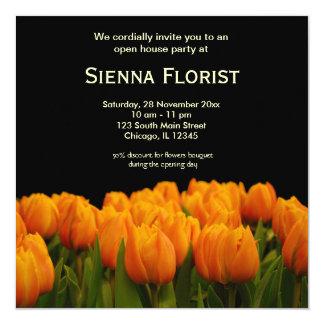 "Open House Florist business 5.25"" Square Invitation Card"