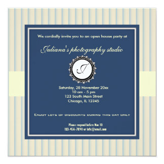 """Open House New Business 5.25"""" Square Invitation Card"""