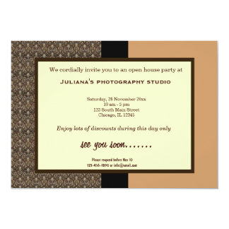 """Open House New Business 5"""" X 7"""" Invitation Card"""