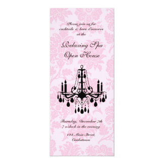 Open House Pink Victorian Damask Card