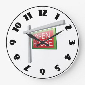 Open House Sign Clock