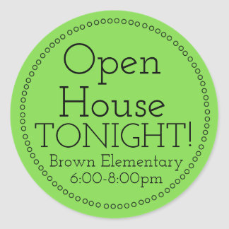 Open House Tonight Stickers