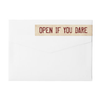 Open if You Dare Halloween Return Address Label
