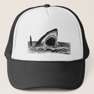 OPEN JAWS Crosshatch Art Trucker Hat