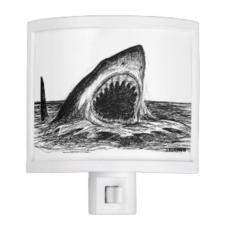 OPEN JAWS Great White Shark Night Light