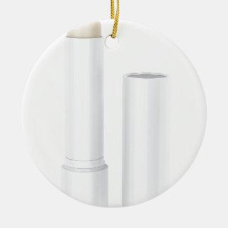 Open lip balm stick ceramic ornament