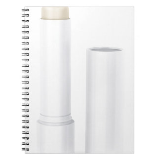 Open lip balm stick notebooks
