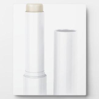 Open lip balm stick plaque