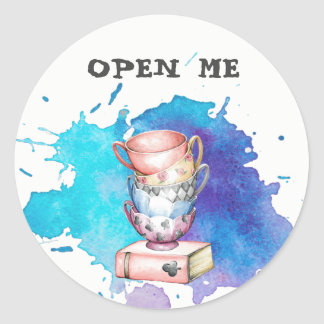 Open Me, Tea Party Stickers