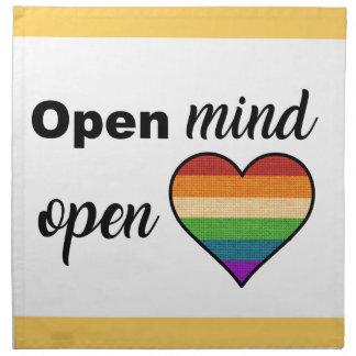 Open Mind, Open Heart Napkin