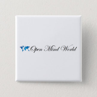 Open Mind World 2 Inch Square Button